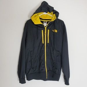 North Face Hommes Black and Yellow Full Zip Jacket
